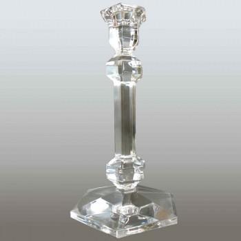 Pair of Val Saint Lambert crystal candlesticks Galatée model