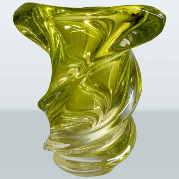 Val Saint Lambert crystal vase Vintage Guido Bon collection