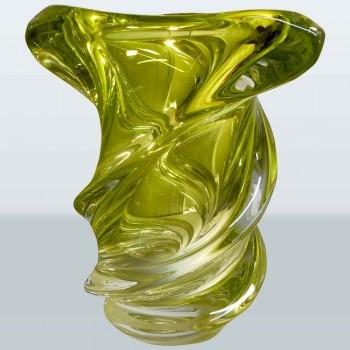 Vaso in cristallo Val Saint Lambert collezione Vintage Guido Bon