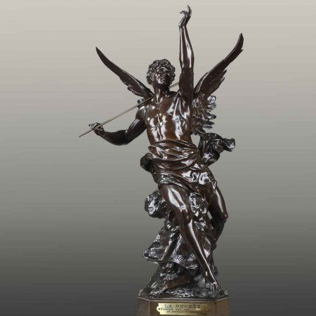 Grande sculpture Allégorique en bronze XIX eme siècle