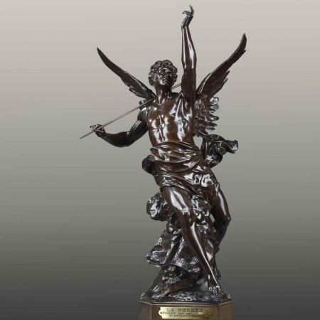 Grande scultura allegorica in bronzo XIX secolo