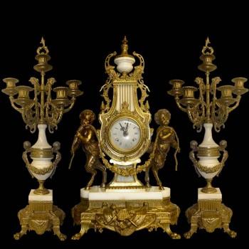 Louis XVI style fireplace set