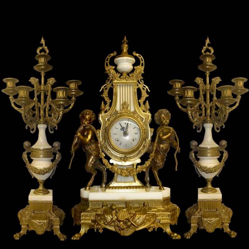 Louis XVI style bronze fireplace insert