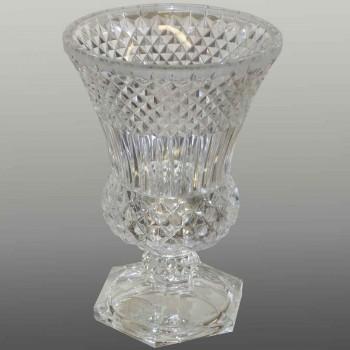 Vase in clear crystal Val Saint Lambert Art Deco