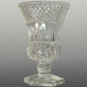 Vase in clear crystal Val Saint Lambert Art Deco 25 cm