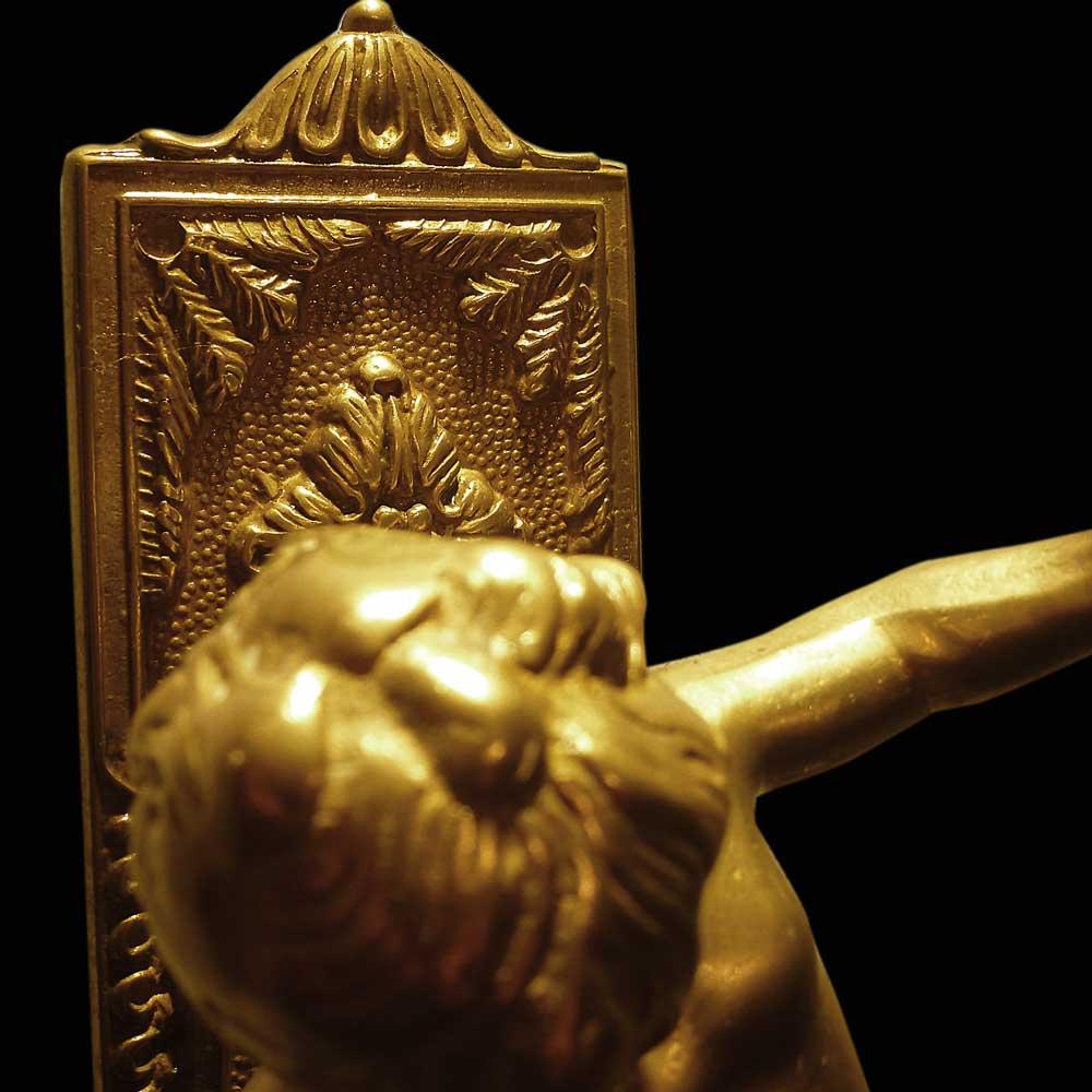 Paire d-appliques en bronze dore 19eme siecle