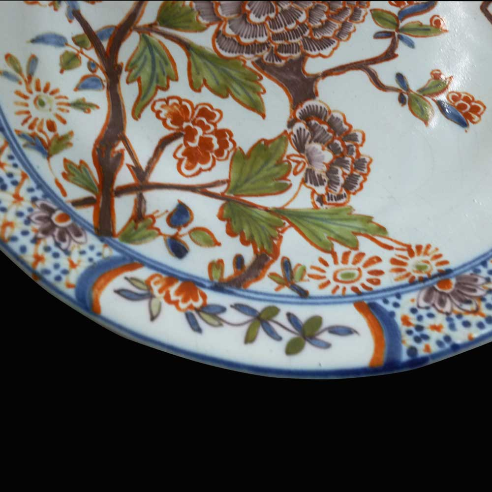 Assiette en faience de Delft 18 eme siecle 1710