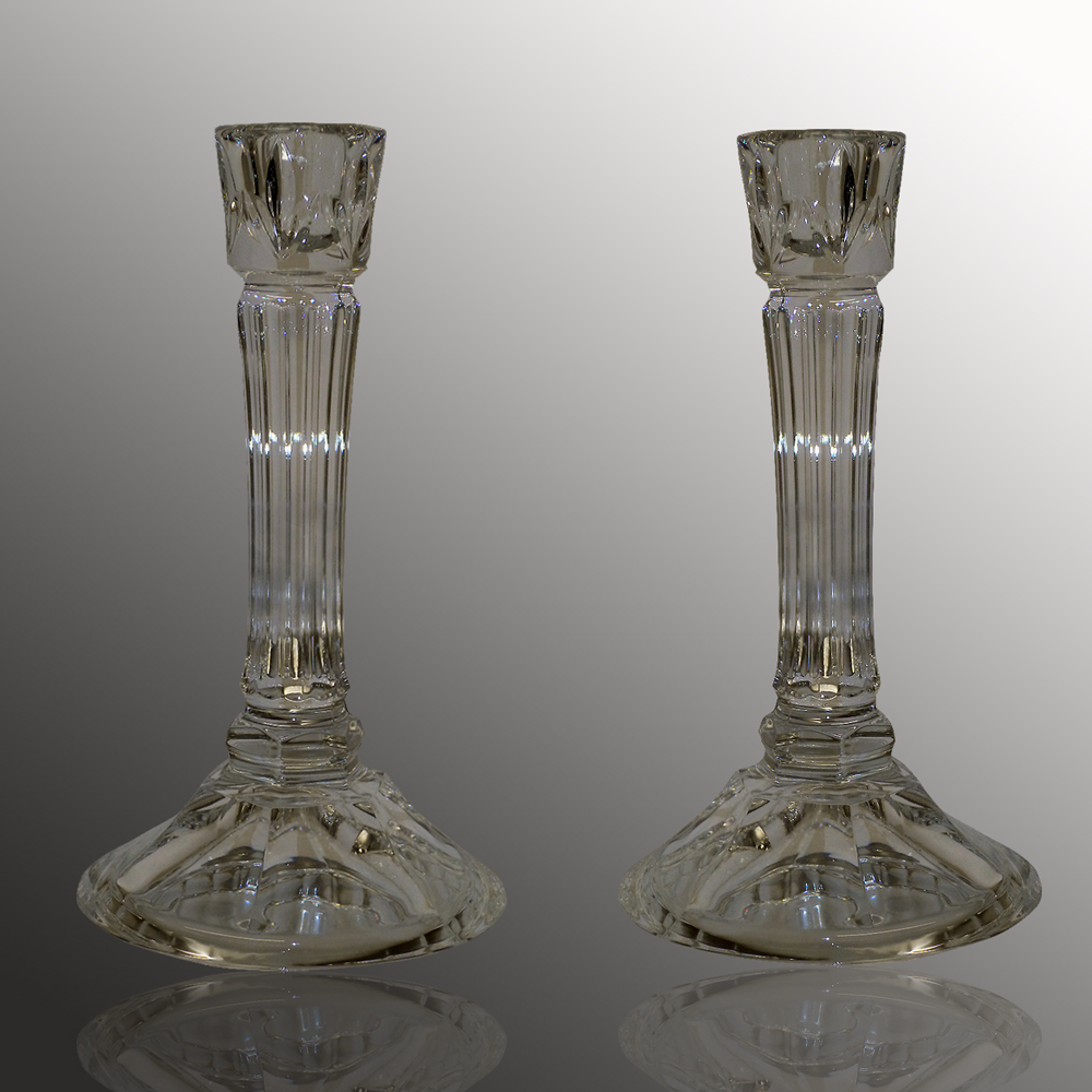 Pair of 14th century Baccarat candlesticks