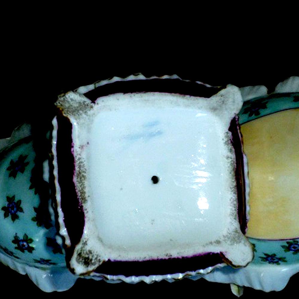 Porcelaine Meissen polychrome et or 18 eme siècle