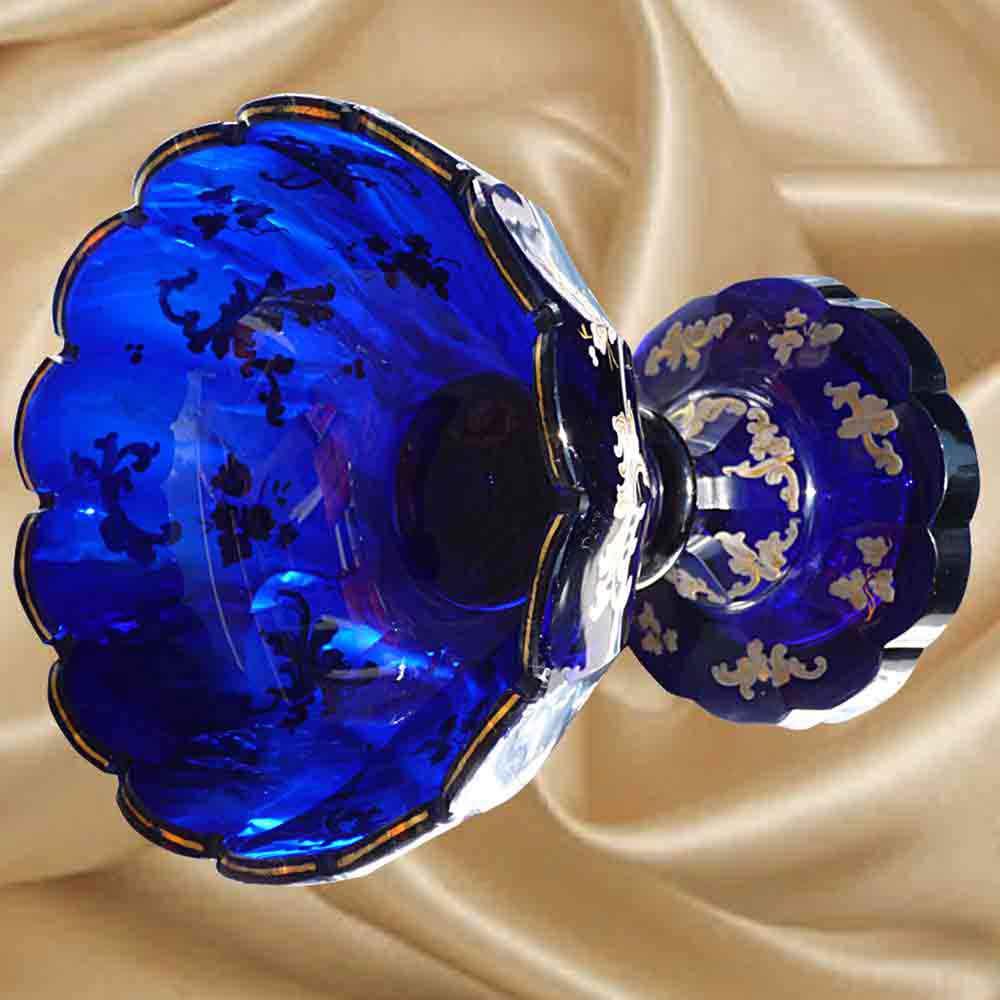 cristal de Bohême,coupe XIX eme siècle