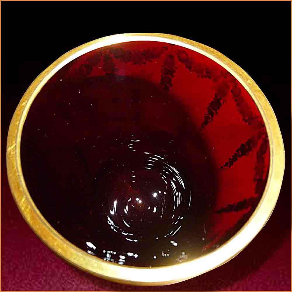 cristal Boheme Moser drageoire rubis XIX