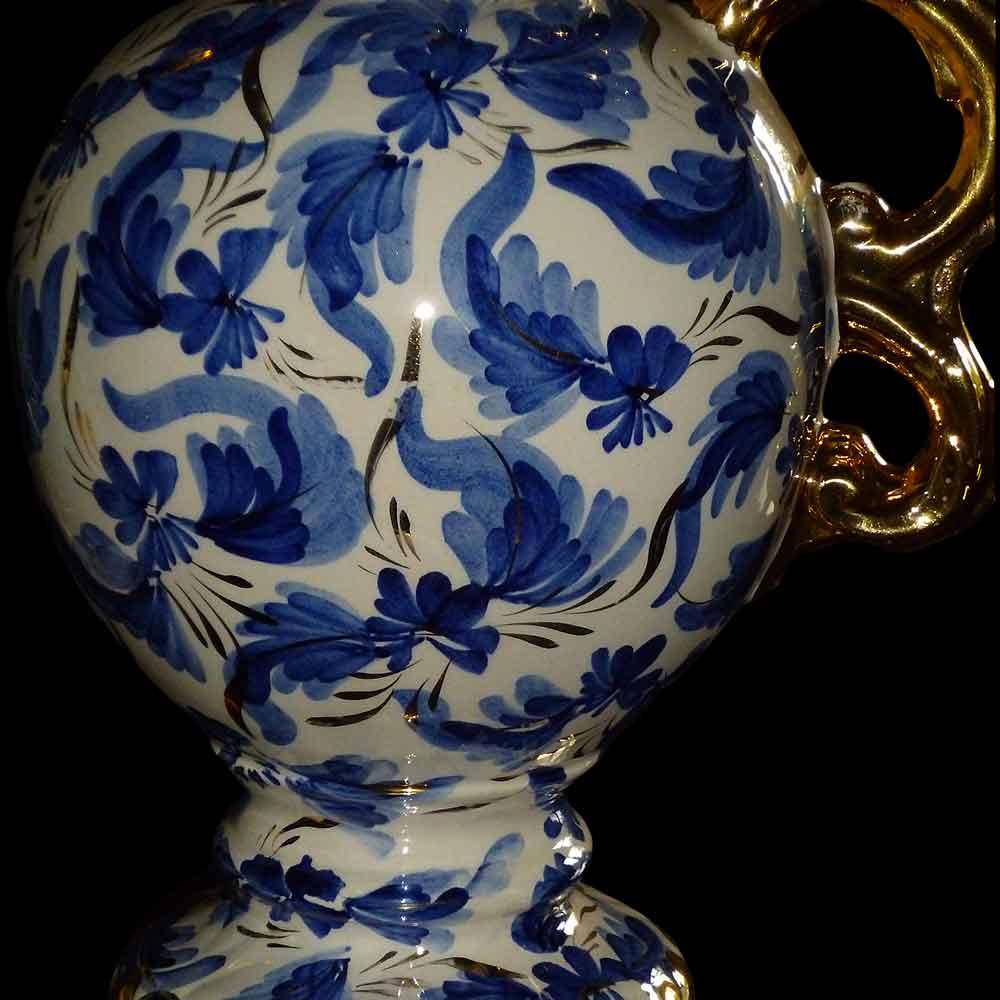 Paire de vases imposants en faïence de Belgique signé Hubert Bequet