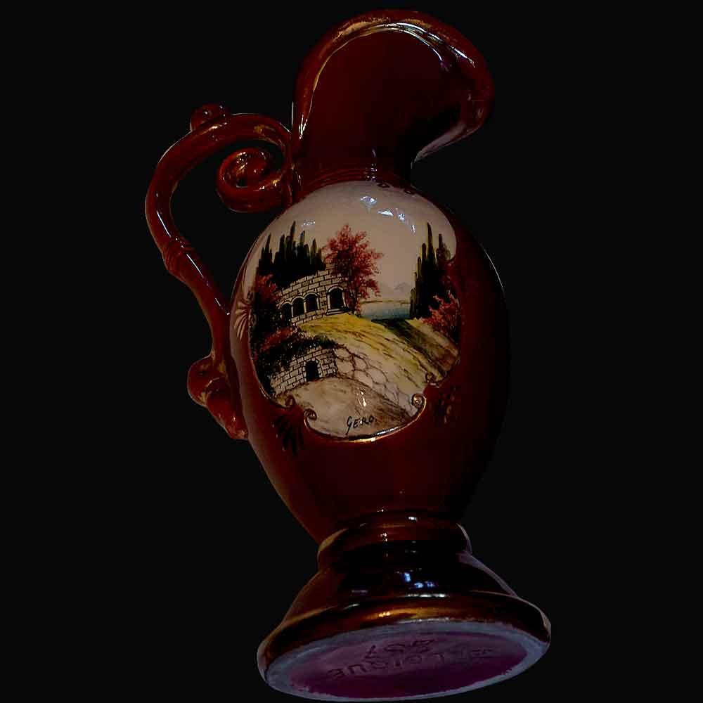 Vase cruche en porcelaine de Belgique