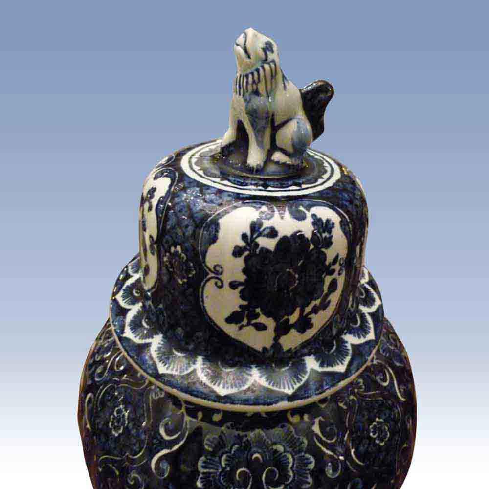 Delft Boch Royal Sphinx vase potiche XXe siecle-prachtije oude Boch vaas Royal Sphinx- Maastricht