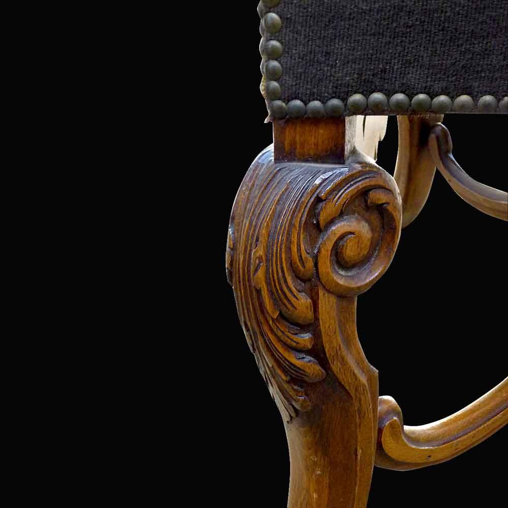 Fauteuil de style regence 19 eme siecle dos plat