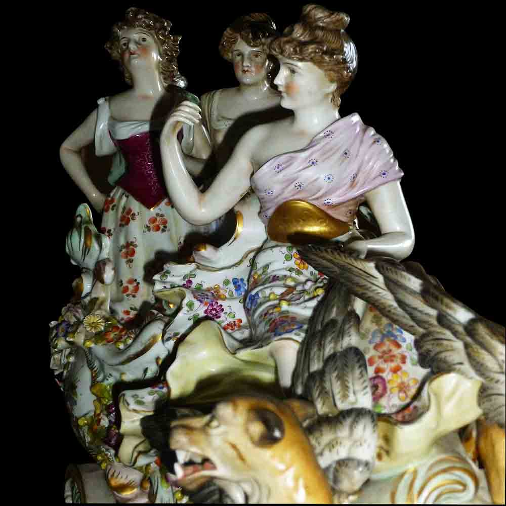 German porcelain group XIX century