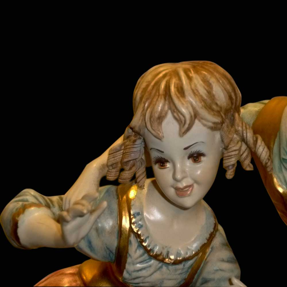 Groupe en porcelaine italienne Capodimonte pastoral