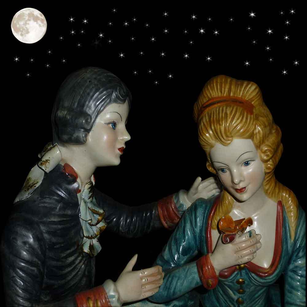 porcelaine capo di monte la romantique