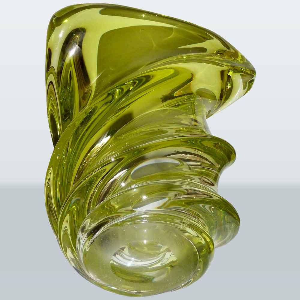 Val Saint Lambert crystal vase Vintage Guido Bon collection 1950/1960