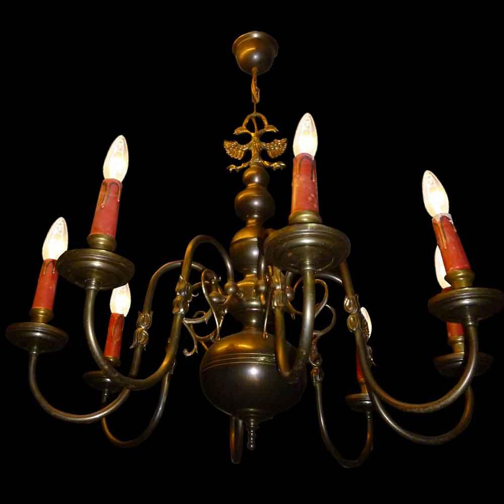 Lustre Hollandais en bronze XIX siècle