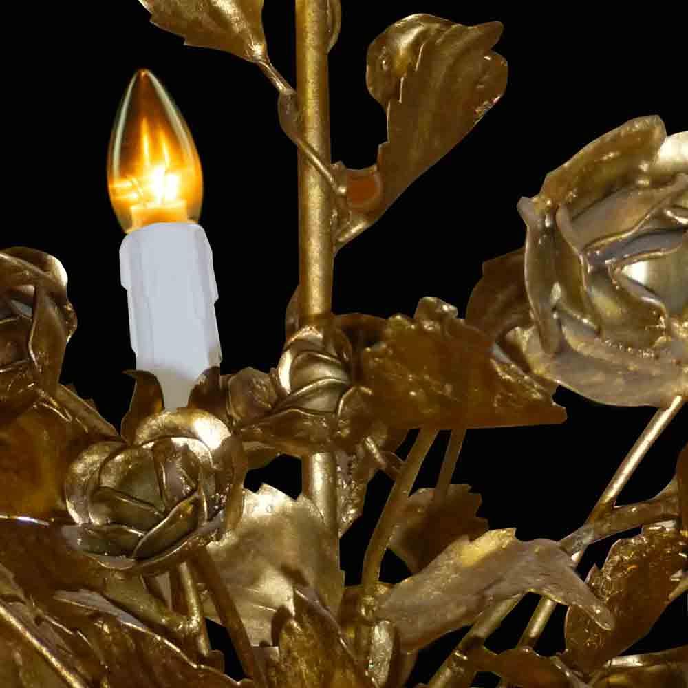 Lustre vintage en métal doré Italie 1950/1960