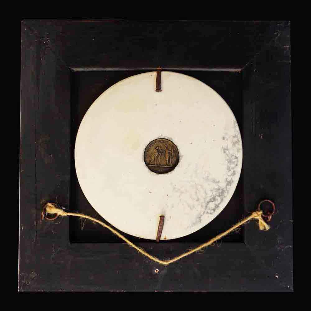 medaillon de marbre Edward William Wyon (1811-1885)