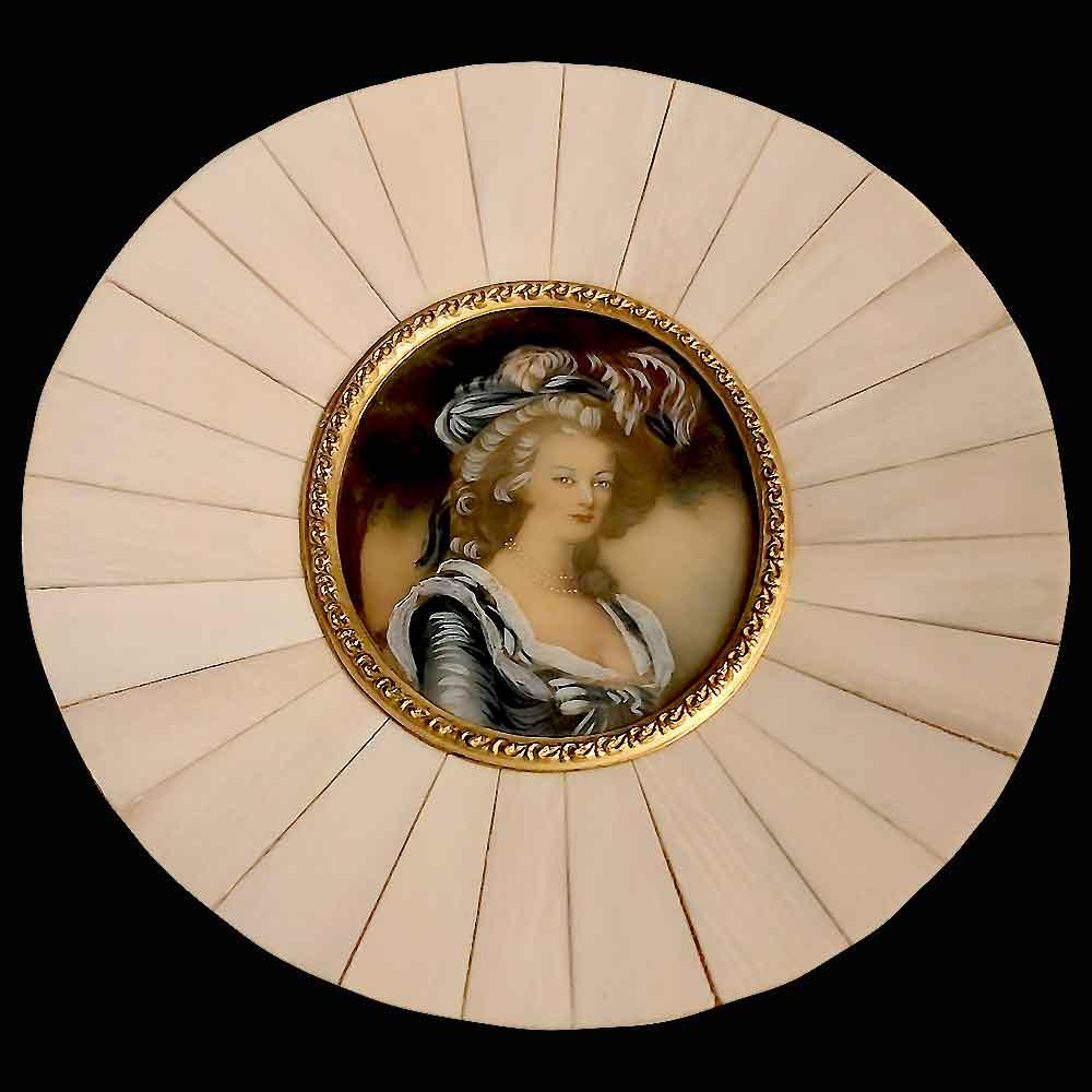 Miniature sur ivoirine XIX eme siècle
