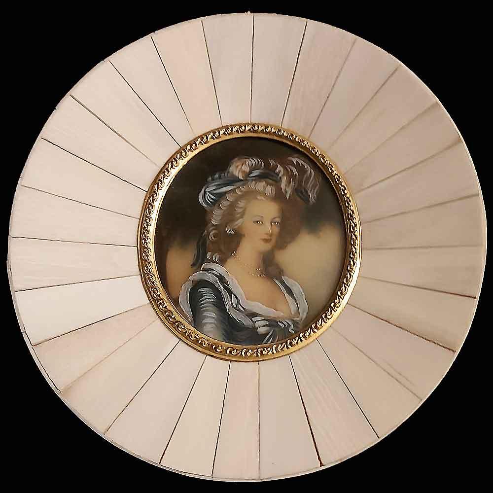 Miniature on ivory XIXth century