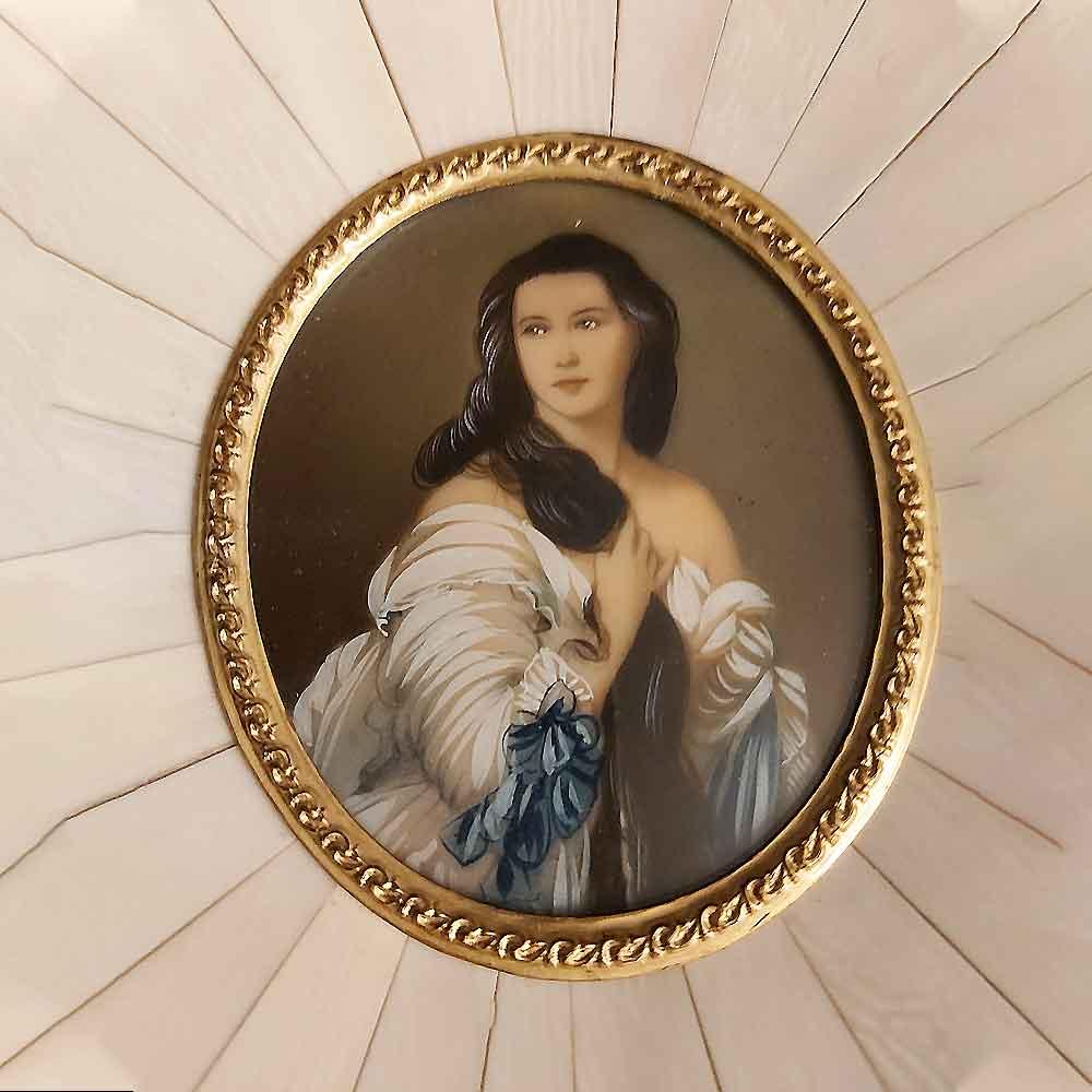 Miniature on Ivory XIXth century Sissi Empress