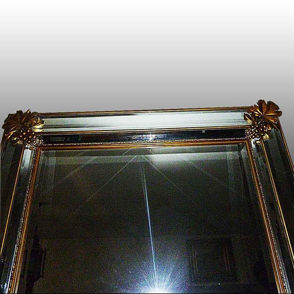 Miroir en bronze dore debut XXe siecle