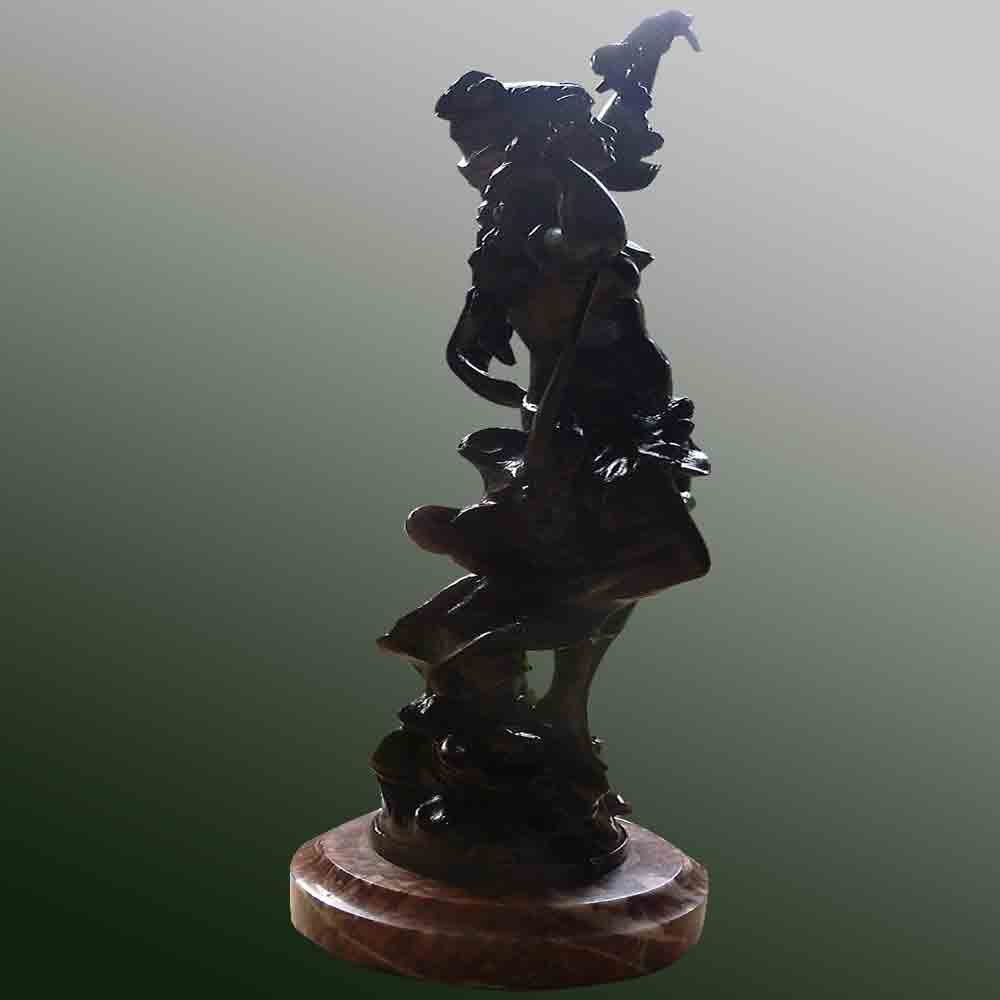 "Sculpture ""night of May"" Louis Moreau 1900-1920"