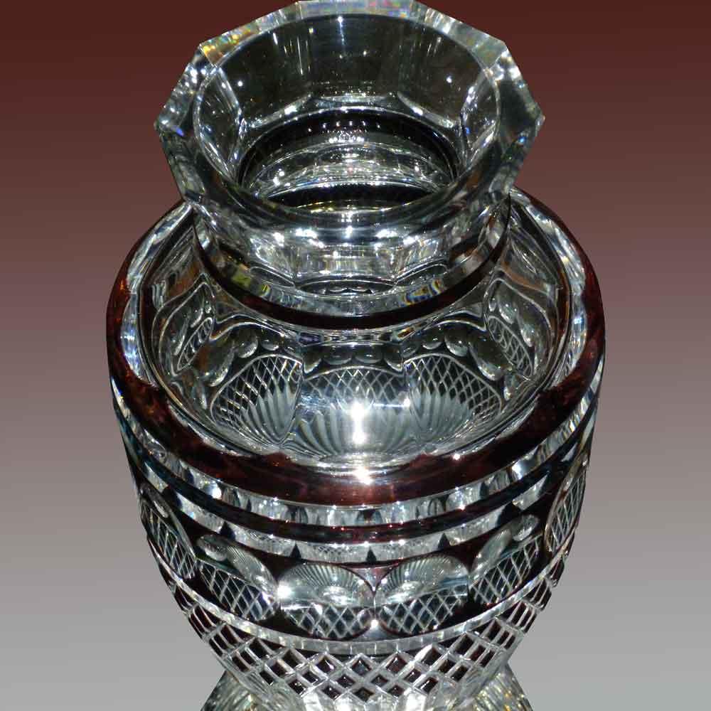 vase en cristal du val saint Lambert Charles Graffart signé