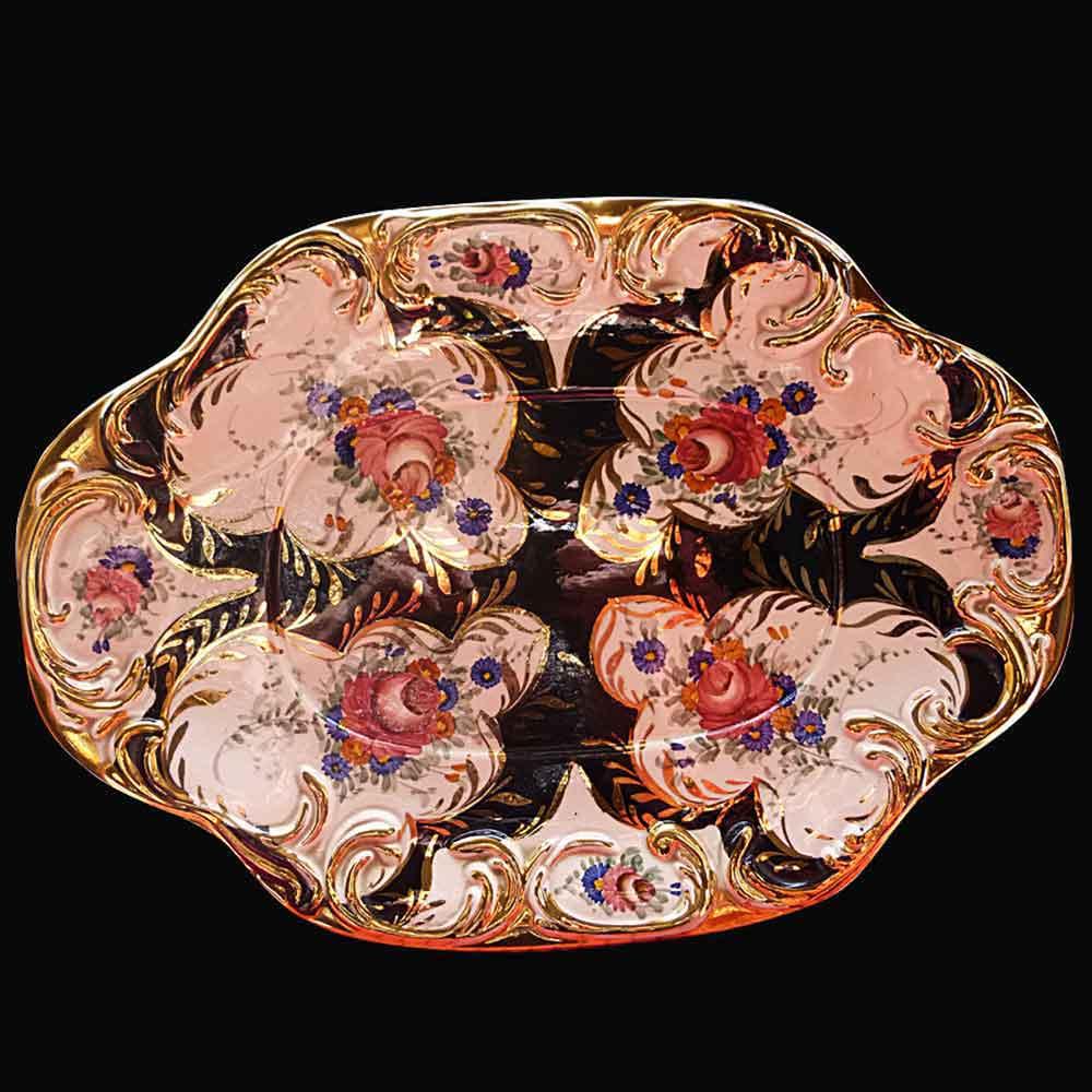 Elegante soupiere et son presentoir H. Bequet