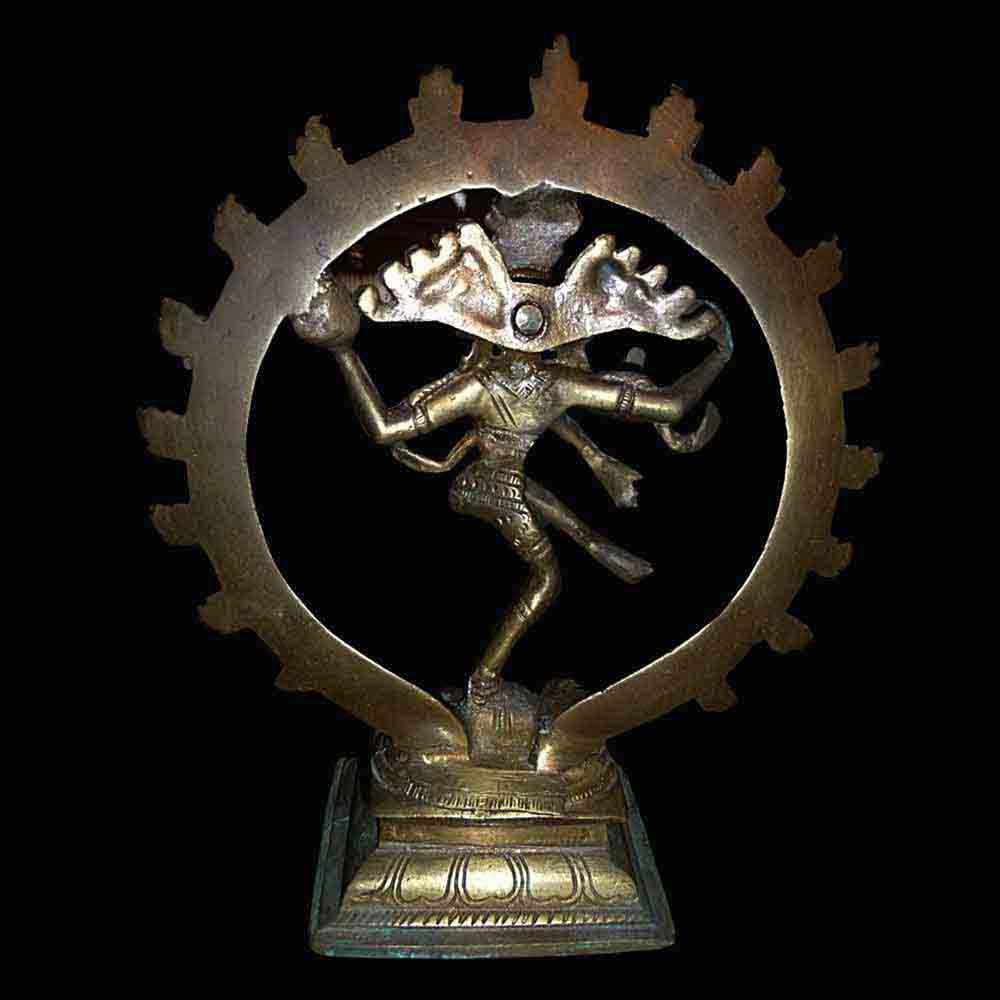Statuette de Shiva Nataraja en bronze