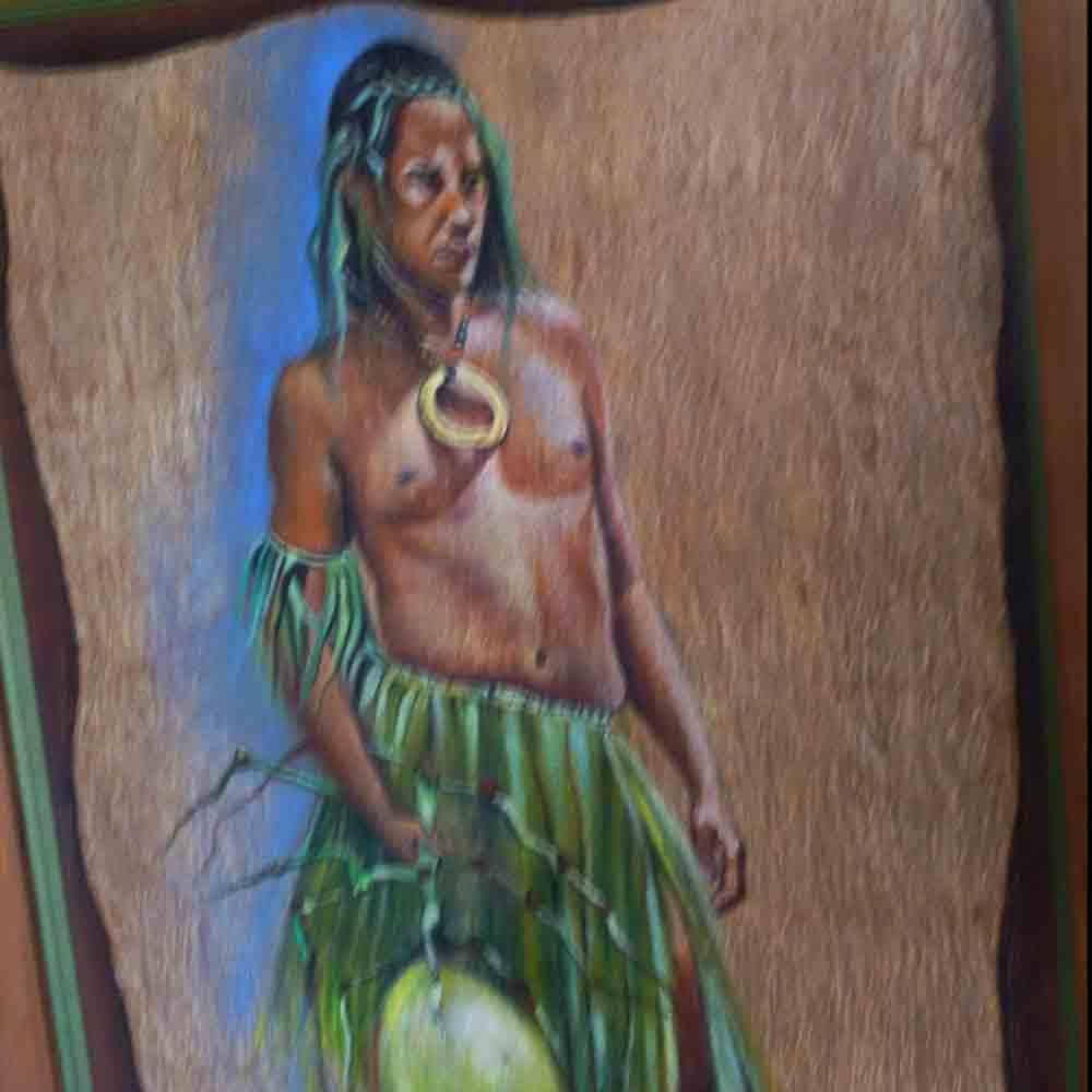 Peinture de style figuratif Ledoux Gisele signee
