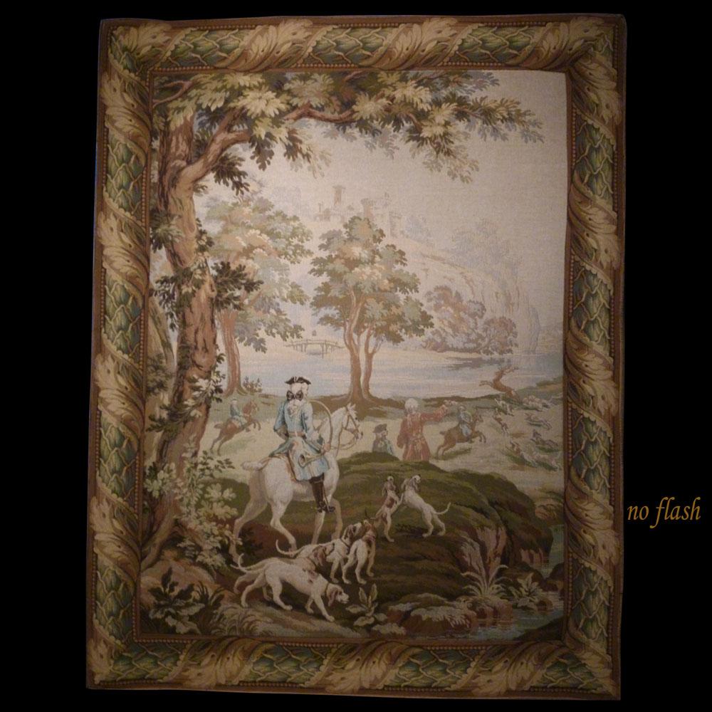 tapisserie des Gobelins scène de chasse