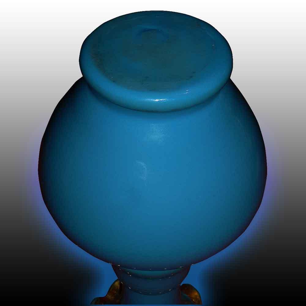 vase balustre en opaline bleu d'époque Charles X