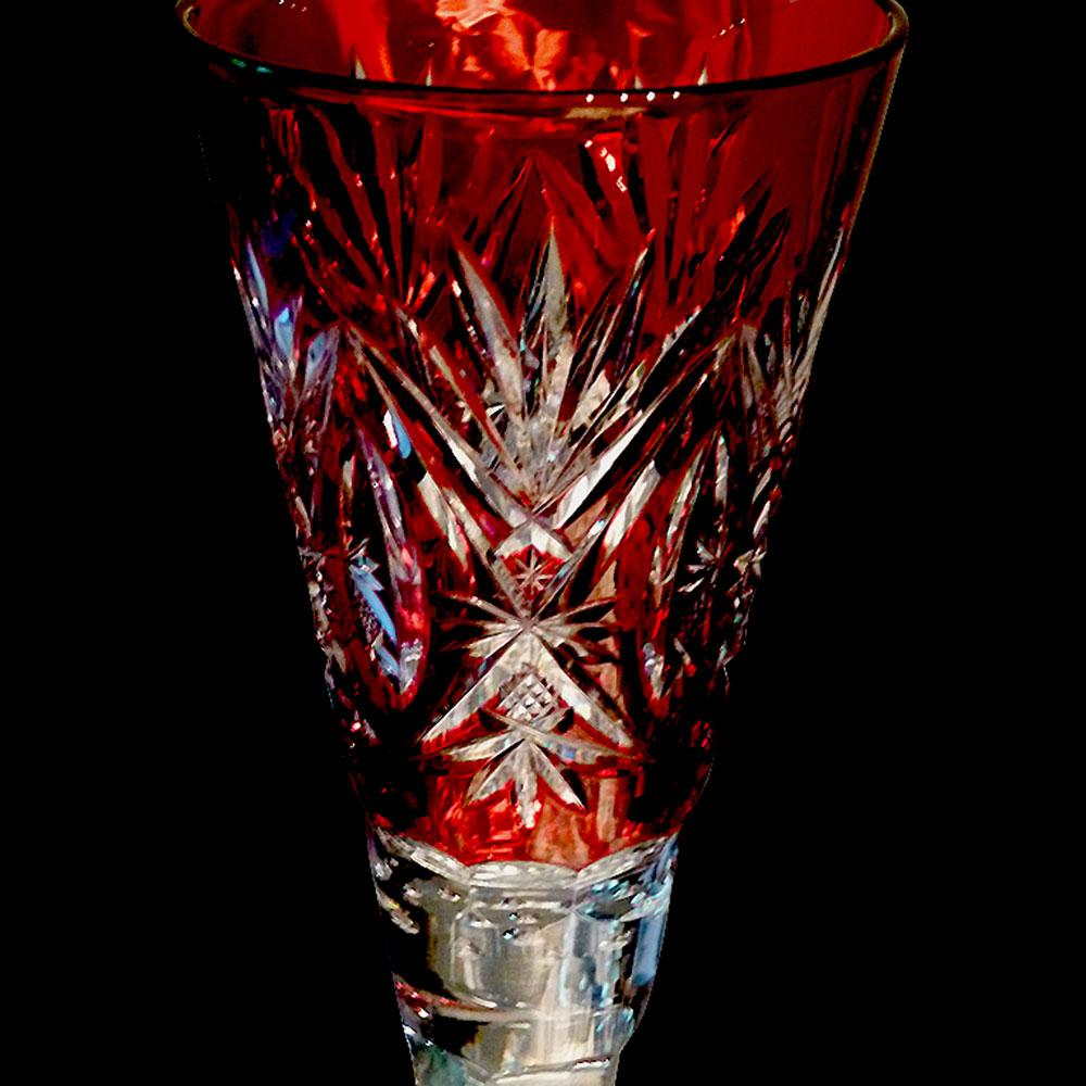 Vase de mariage en cristal du Val Saint Lambert