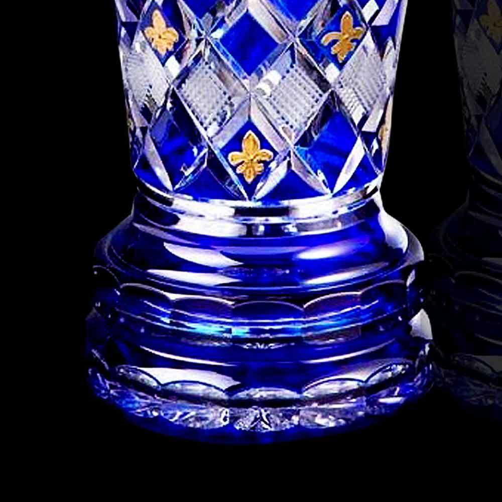 Vase en cristal et or cristal de France