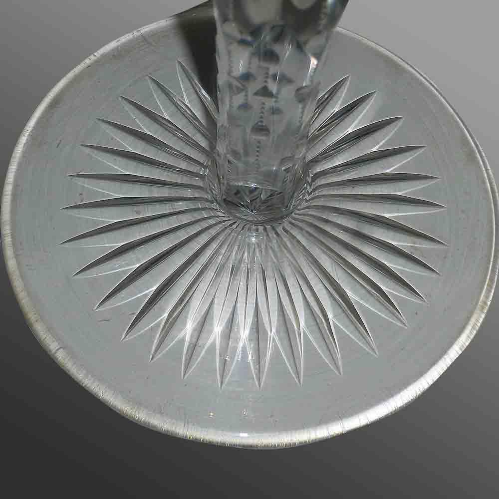 Paire de vases cristal val Saint Lambert 1900