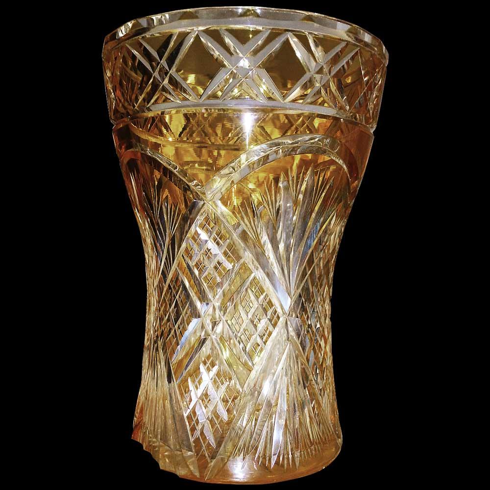 Vase en cristal Val Saint Lambert Art deco